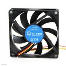 Вентилятор  80x80x15мм 5bites F8015S-3 1600rpm, 23dB, 3pin Sleeve