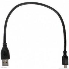 Кабель USB 2.0 Am-miniBm 5P  0.3м Gembird Pro, позол.конт. черный (CCP-USB2-AM5P-1)