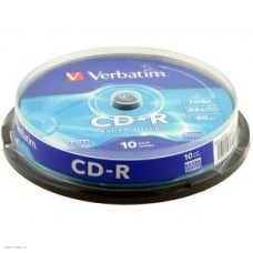 Диск CD-R Verbatim 700Mb 52x, 10шт. DataLife Cake Box (43437)