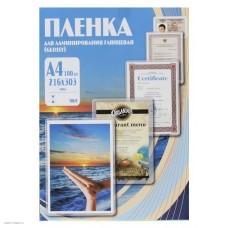 Плёнка глянцевая А4 80 mk (100шт., Fellowes) FS-53061
