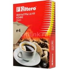 Фильтры для кофе Filtero №4/80 коричневый 80шт.